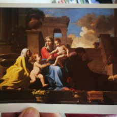 Cartes Postales: POSTAL NICOLAS POUSSIN 1594-1665 HOLY FAMILY ON THE STEPS 1648 S/C. Lote 258256860