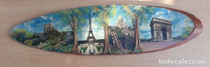 TABLA RECUERDO DE PARÍS. LÁMINAS Y PINTURA. (Postales - Postales Temáticas - Arte)