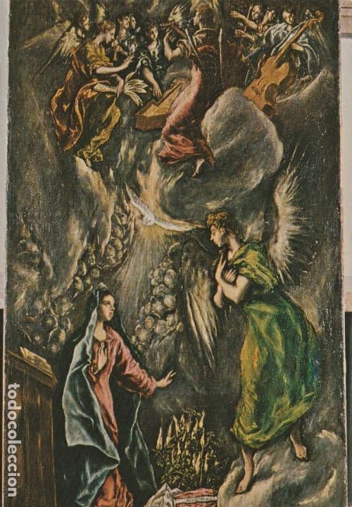 POSTAL - PINTURA - GRECO - LA ANUNCIACION - MUSEO BELLAS ARTES BILBAO - Nº 2 -ED LUZYSON -1973 NUEVA (Postales - Postales Temáticas - Arte)