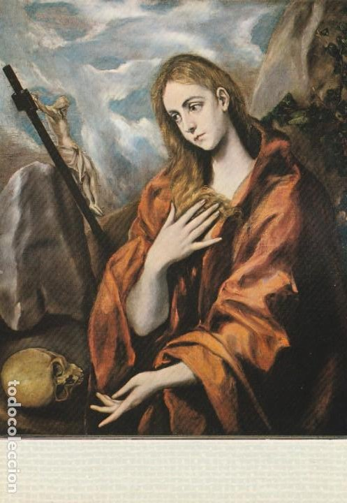 POSTAL - PINTURA - EL GRECO - SANTA MARIA MAGDALENA -MUSEO CAU FERRAT SITGES -Nº 81- ESCUDO ORO 1968 (Postales - Postales Temáticas - Arte)