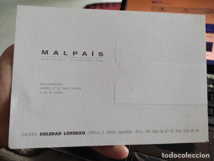 Postales: MALPAIS TARJETON ARTE EXPO 1995 INAUGURACIÓN GALERIA S LORENZO 19,5 X 13,5 CM DEPERFECTO - Foto 2 - 262748565