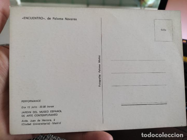 Postales: PALOMA NAVARES PERFORMANCE TARJETON ARTE EXPO INAUGURACIÓN GALERIA 16,5 X 11,5 CM - Foto 2 - 262791960
