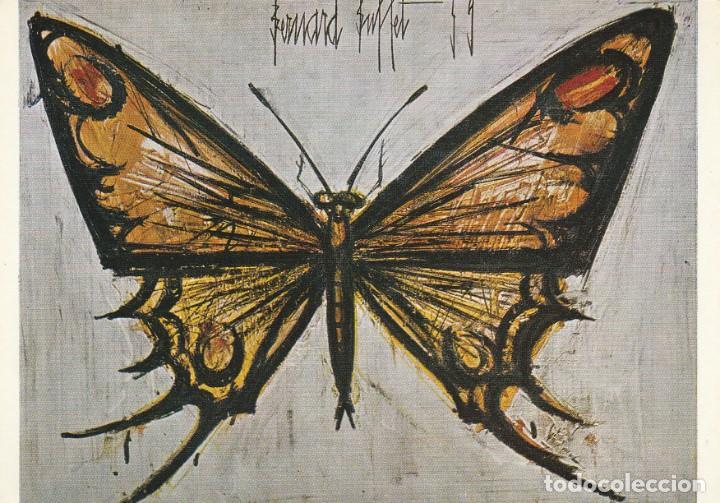 POSTAL - BERNARD BUFFET - PAPILLON - COLECCION MAURICE GARNIER - Nº 220 ED BRAUN PARIS 1962 NUEVA (Postales - Postales Temáticas - Arte)