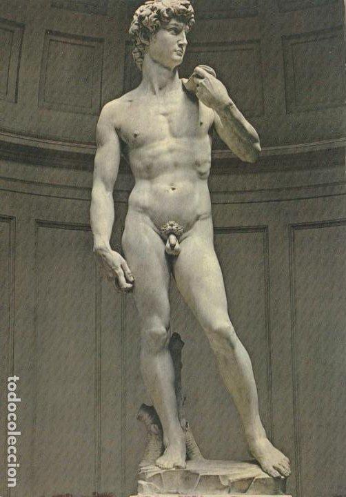 POSTAL - MICHELANGELO / MIGUEL ANGEL - DAVID -GALERIA ACADEMIA - FLORENCIA Nº 356 O.P.A ITALIA NUEVA (Postales - Postales Temáticas - Arte)