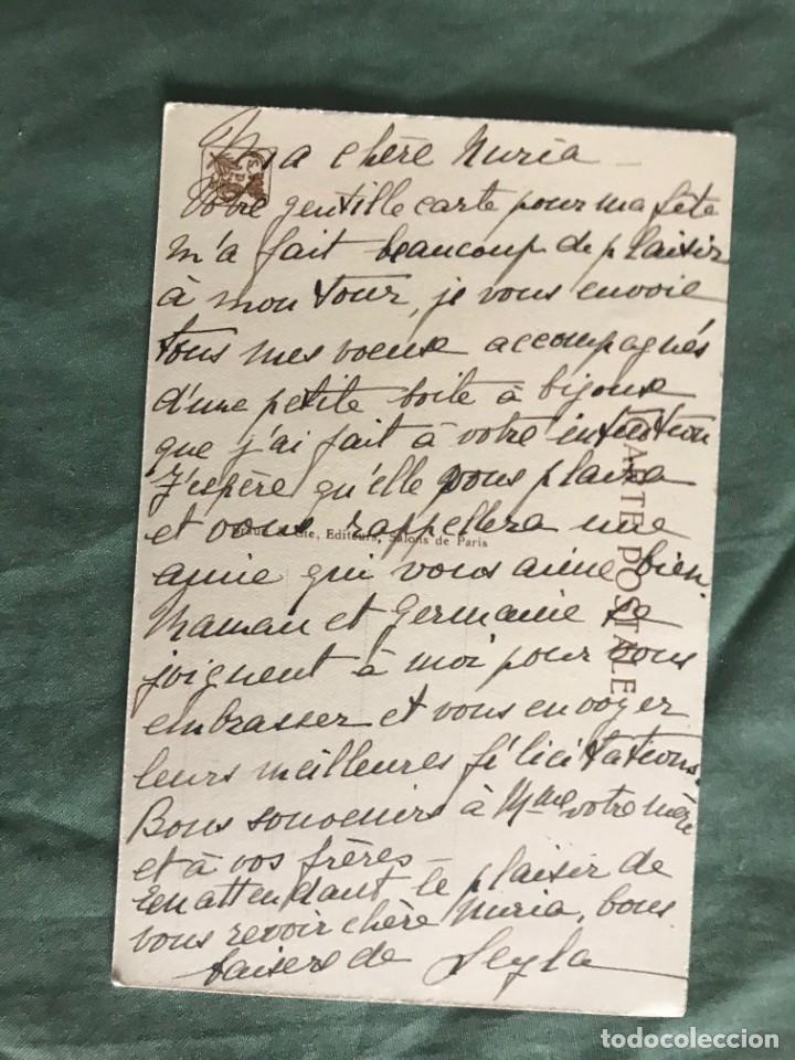Postales: LA JEUNE FILLE AUX COLOMBES . J.LECLERC . BRAUN & CIE 0183, ESCRITA 1932 - Foto 2 - 263535255