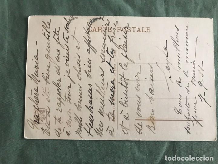 Postales: MUSES AU BORD DE LEAU, LE SOIR. A.OSBERT. BRAUN & CIE 7189, ESCRITA 1931 - Foto 2 - 263539885