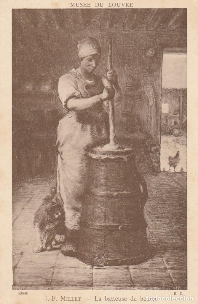 POSTAL - J.F. MILLET - LA BATTEUSE DE BEURRE / LA BATIDORA DE MANTECA - MUSEO DEL LOUVRE - NUEVA (Postales - Postales Temáticas - Arte)