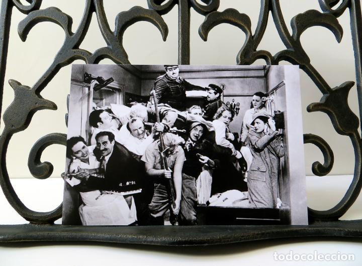 Postales: Postal Los Hermanos Marx (Groucho Harpo Chico) Una Noche en la Ópera, Sam Wood, A Night at the Opera - Foto 3 - 263620415