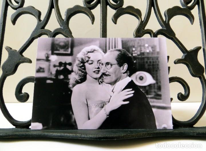 Postales: Postal de Marilyn Monroe y Groucho Marx en Amor en Conserva, de David Miller. Tema: Cine, Love Happy - Foto 3 - 263620440