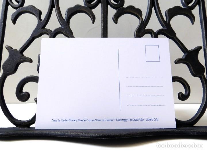 Postales: Postal de Marilyn Monroe y Groucho Marx en Amor en Conserva, de David Miller. Tema: Cine, Love Happy - Foto 4 - 263620440