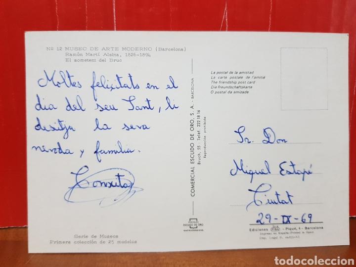 Postales: POSTAL ANTIGUA - MUSEO DE ARTE MODERNO BARCELONA N°12 SERIE MUSEOS AÑOS 60 - Foto 2 - 264429239