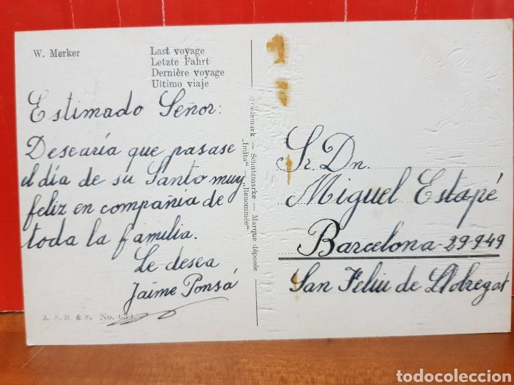 Postales: POSTAL ANTIGUA - W. MERKER ULTIMO VIAJE N°639 AÑOS 40 - Foto 2 - 264435894