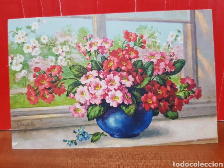 POSTAL ANTIGUA - FLORES - STZ.F. N°251 AÑOS 30 (Postales - Postales Temáticas - Arte)