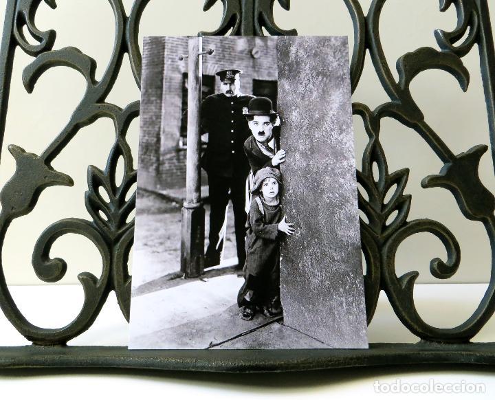Postales: Postal de la película El Chico, de Charles Chaplin. Tema: Cine, Charlot, The Kid. - Foto 3 - 254010095