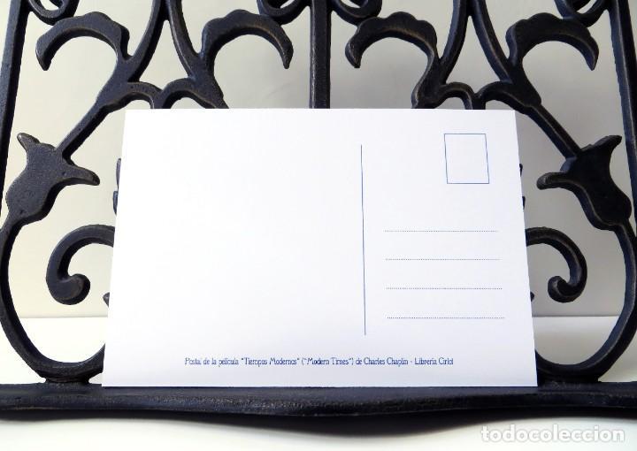Postales: Postal de la película Tiempos Modernos, de Charles Chaplin. Tema: Cine, Charlot, Modern Times. - Foto 4 - 254010110