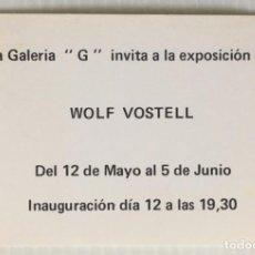 Cartes Postales: GALERIA G. WOLF VOSTELL. BARCELONA ARTE Y DISEÑO.. Lote 265195054
