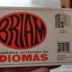 Postales: BRIAM CALENDARIO 1966 IDIOMAS MADRID. Lote 267611249