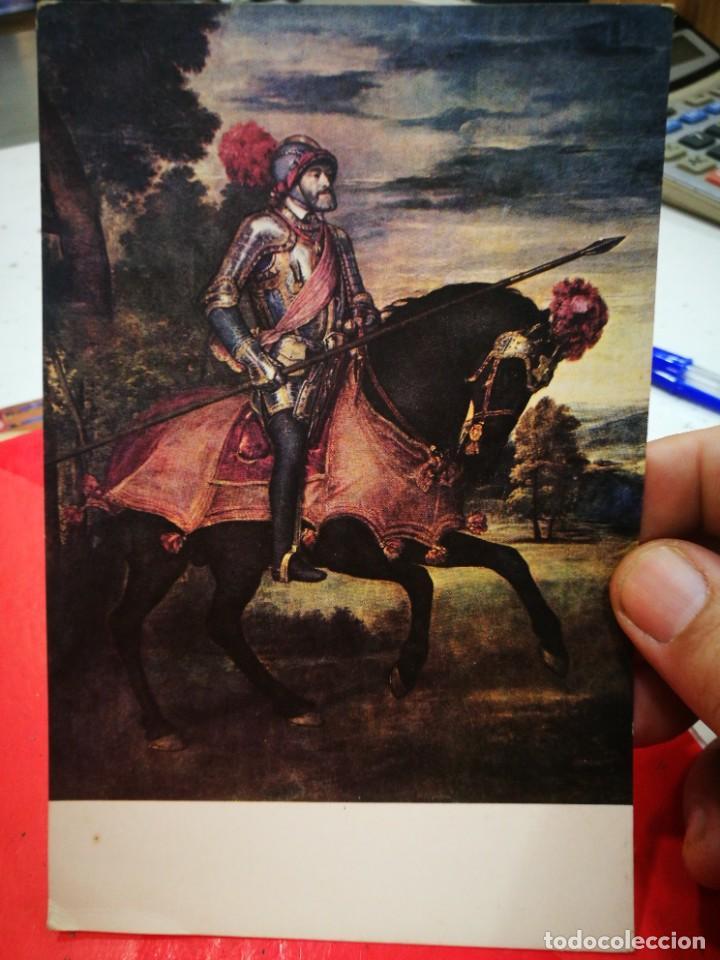 POSTAL TIZIANO 1477-1576 EL EMPERADOR CARLOS V EN MUHLBERG MUSEO DEL PRADO S/C 1958 (Postales - Postales Temáticas - Arte)
