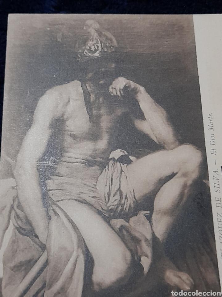 Postales: Postal antigua del museo del Prado, cuadro El dios Marte de Velasquez - Foto 2 - 268899079