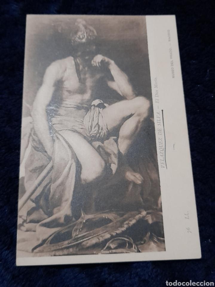 POSTAL ANTIGUA DEL MUSEO DEL PRADO, CUADRO EL DIOS MARTE DE VELASQUEZ (Postales - Postales Temáticas - Arte)