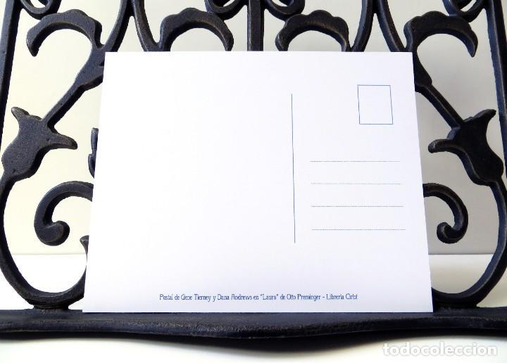 Postales: Postal de Gene Tierney y Dana Andrews en la película Laura, de Otto Preminger. Tema: Cine. - Foto 4 - 268950109