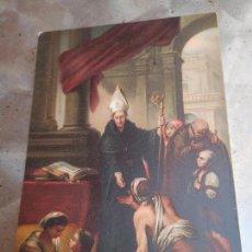 Postales: POSTAL DEL MUSEO DE BELLAS ARTE DE SEVILLA : SANTO TOMAS DE VILLANUEVA, DE MURILLO 1909 CURSADA. Lote 269358933