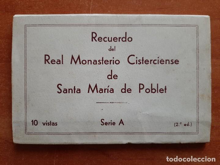 REAL MONASTERIO CISTERCIENSE DE SANTA MARÍA DE POBLET - 10 POSTALES (Postales - Postales Temáticas - Arte)
