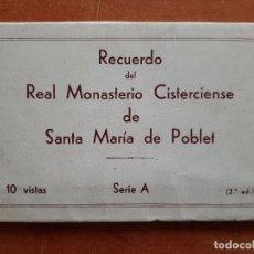Postales: REAL MONASTERIO CISTERCIENSE DE SANTA MARÍA DE POBLET - 10 POSTALES. Lote 276645128