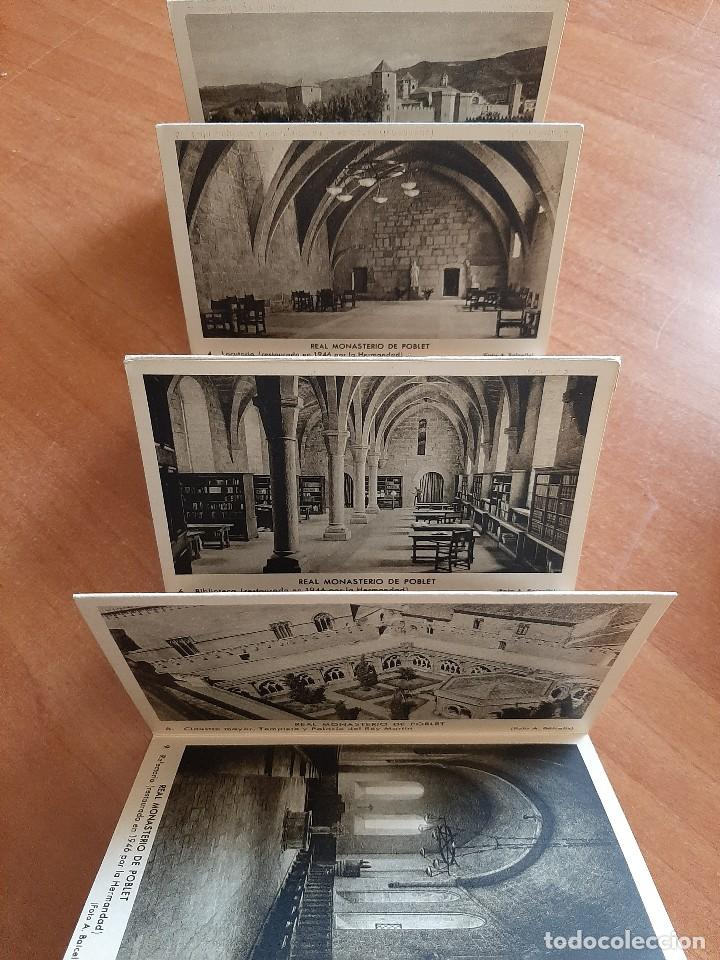 Postales: REAL MONASTERIO CISTERCIENSE DE SANTA MARÍA DE POBLET - 10 POSTALES - Foto 2 - 276645128