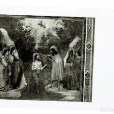 Postales: POSTAL PADOVA / CAPELLA DEGLI SCROVEGNI / BAUTISMO DE JESÚS / GIOTTO / SELLO GOMA COMUNE. Lote 277143498