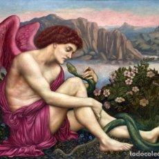 Postales: POSTAL DEL CUADRO THE ANGEL WITH THE SERPENT, DE EVELYN DE MORGAN. PINTURA, PRERRAFAELISMO, ARTE.. Lote 277685223