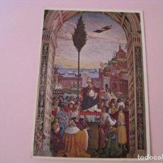 Postales: POSTAL DE ENEAS PICCOLOMINI LLEGA A ANCONA. PINTURICCHIO. CIRCULADA 1969.. Lote 279470503