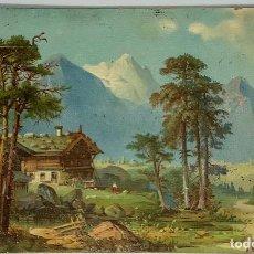 Postales: PAISAJE DE MONTAÑA, REV SIN DIVIDIR. CIRCULADA HOLANDA 1902. Lote 280752148