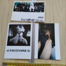 Postales: 3 POSTALES DE ARTISTAS 1997, DOMINGO VILLANUEVA, ARTE CONTEMPORÁNEO PARÍS, BARCELONA. Lote 284323653