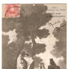 Postales: GOYA IV MUSEO DEL PRADO, LA MAJA Y LOS EMBOZADOS. FOT. LACOSTE.. Lote 285051058