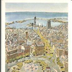 """Postales: POSTAL JORGE ARRANZ """"PLAZA CATALUÑA""""- SOMBRAS EDICIONES 1988 - N° 118. Lote 285327203"""