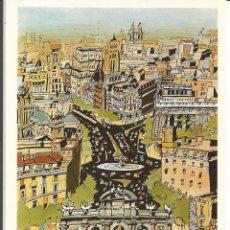 """Postales: POSTAL JORGE ARRANZ """"POR LA CALLE DE ALCALÁ II""""- SOMBRAS EDICIONES 1986 - N° 55. Lote 285327548"""