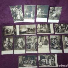 Cartoline: 16 ANTIGUAS POSTALES CON OBRAS DE MUSEOS DE HOLANDA, SEPIA. Lote 287685488