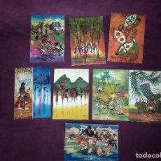 Cartoline: 8 POSTALES DE PINTURAS DE ARTISTAS DE MALAYSIA, BATIK Y OTRO. Lote 287688023