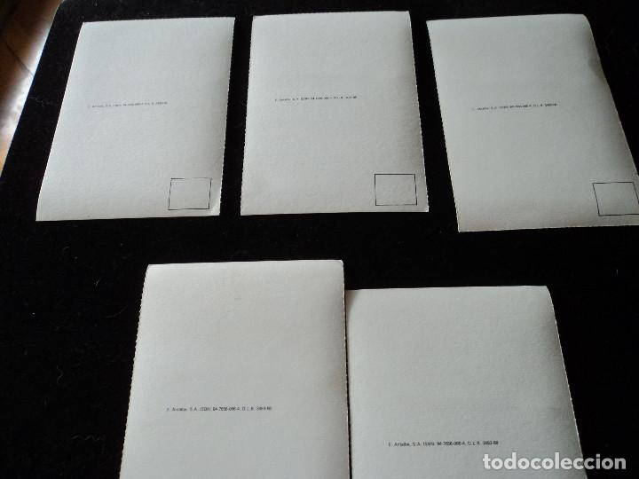 Postales: 5 postales, ilustraciones de Ramón Casas, Editorial Antalbe, 16 x 10 cm - Foto 2 - 288542753