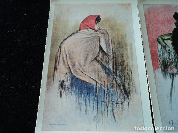 Postales: 5 postales, ilustraciones de Ramón Casas, Editorial Antalbe, 16 x 10 cm - Foto 3 - 288542753