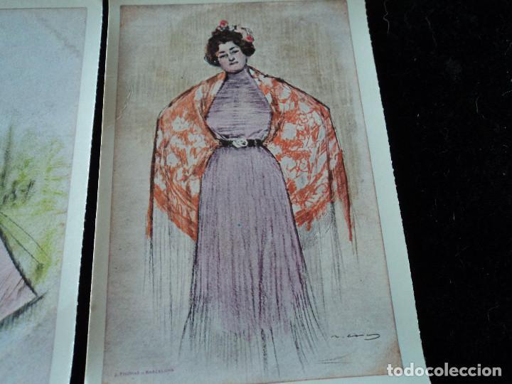 Postales: 5 postales, ilustraciones de Ramón Casas, Editorial Antalbe, 16 x 10 cm - Foto 6 - 288542753