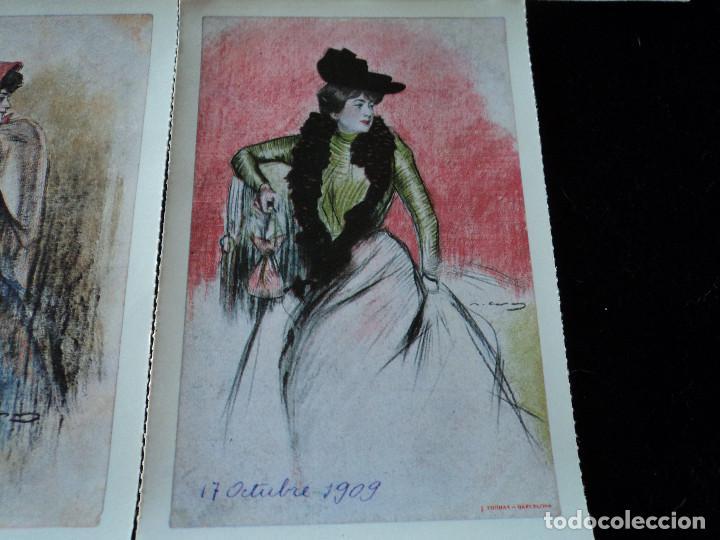 Postales: 5 postales, ilustraciones de Ramón Casas, Editorial Antalbe, 16 x 10 cm - Foto 7 - 288542753