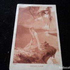 Postales: ANTIGUA POSTAL ROCHER FLEURI 6614 (ARTISTA P. CHABAS) BRAUN & CIA, SALON DE PARIS. Lote 288602603