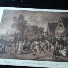 Postales: LA FETE DE VILLAGE ,D.TENIERS, MUSEE DU LOUVRE, 2159, BRAUN & CIE.. Lote 288651023