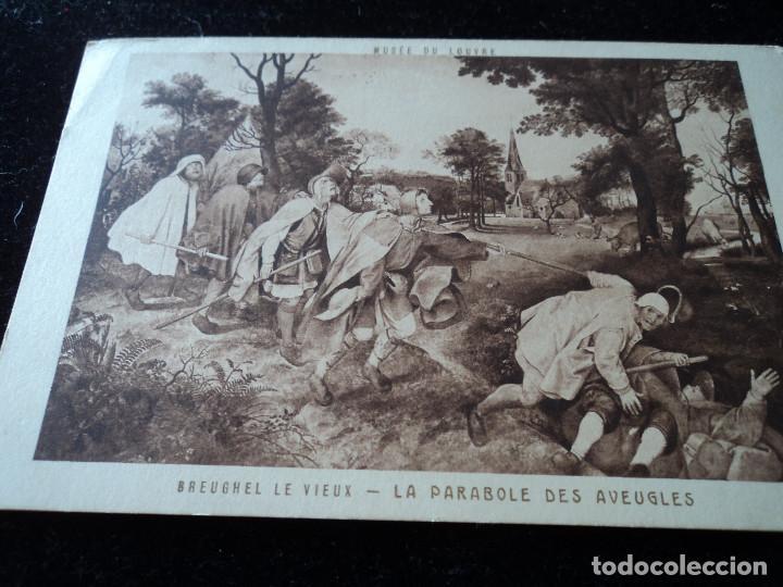 LA PARABOLE DES AVEUGLES, BREUGHEL LE VIEUX MUSEE DU LOUVRE, BRAUN & CIE. (Postales - Postales Temáticas - Arte)