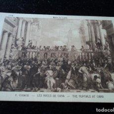 Postales: LES NOCES DE CANA, P. VERONESE, MUSEE DU LOUVRE, 1192, BRAUN & CIE.. Lote 288651423