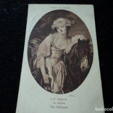 Postales: LA LAITIERE ,J.B. GREUZE, MUSEE DU LOUVRE, 372 A, BRAUN & CIE.. Lote 288652158