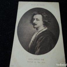 Postales: PORTRAIT DE VAN DYCK ,ANTON VAN DYCK, MUSEE DU LOUVRE, 11983,. Lote 288652313