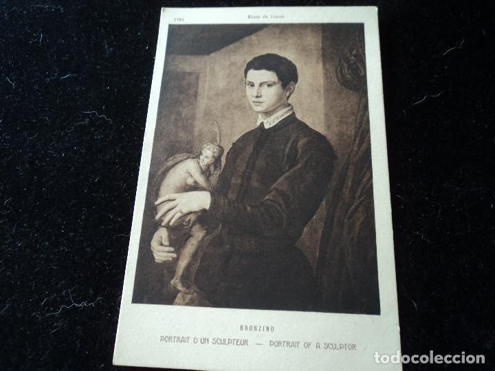 PORTRAIT D´UN SCULPTEUR,BRONZINO, MUSEE DU LOUVRE, 1184, BRAUN & CIE (Postales - Postales Temáticas - Arte)